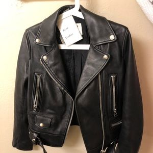 Jackets & Blazers - Acne studio black leather jacket